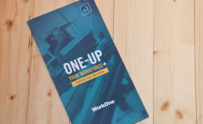 Work One Brochure Cover