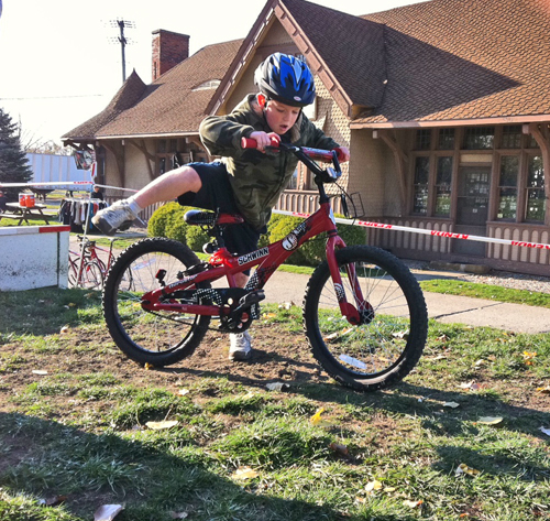 Jake Patton at the Fort Wayne Outfitters' bike race
