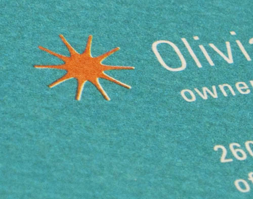 Business Card Close-Up