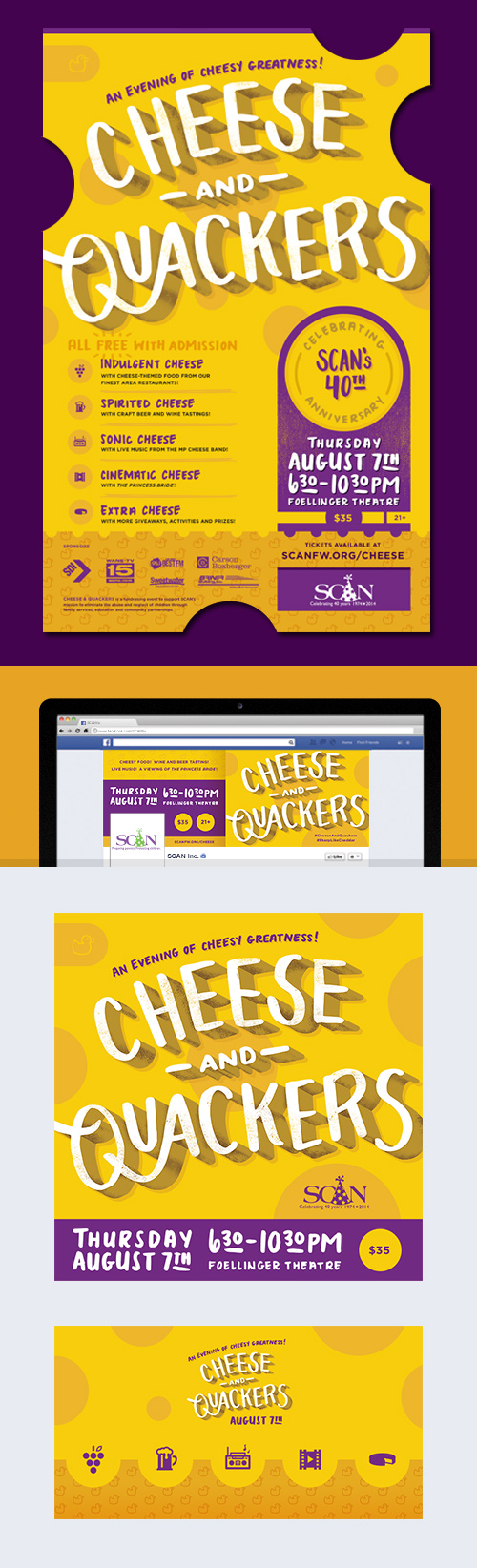 SCAN Fort Wayne Cheese and Quackers Event